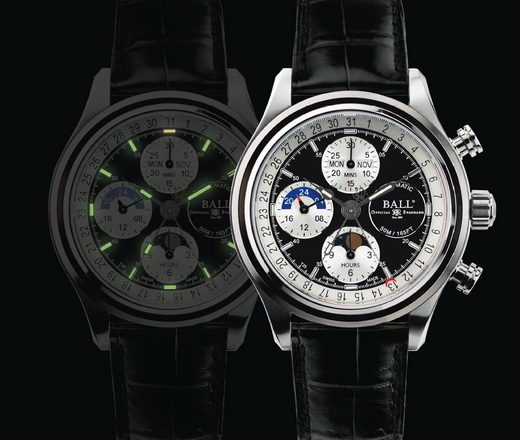 Ball Trainmaster Moonlight Special Chronograph