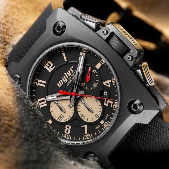 Wyler Geneve Dakar Rally Tantalum Chronograph